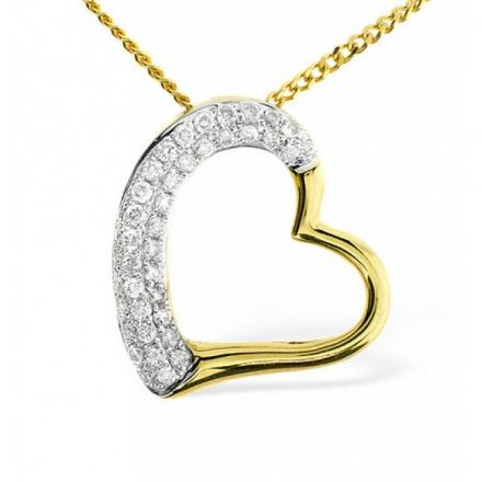 9K Gold 0.19ct Diamond Pendant, E2677